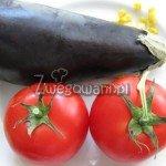 Bakłażan zapiekany z pomidorami - składniki