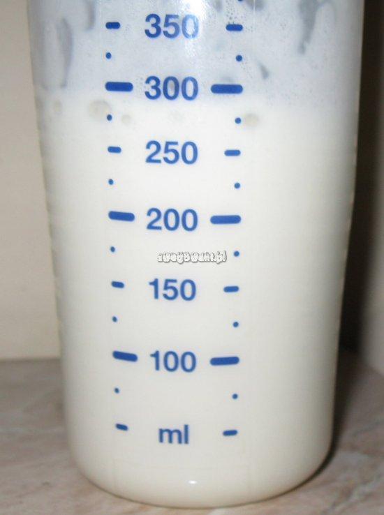 Mleko po wstrząśnięciu