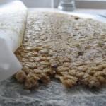 Rozwałkowana masa na ciasteczka owsiane