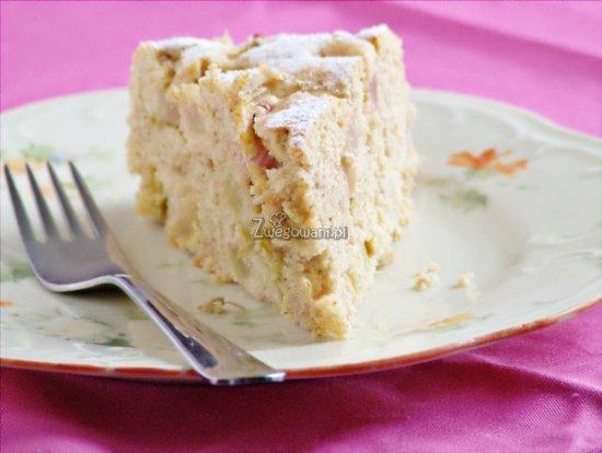 Ciasto jogurtowe z rabarbarem słodzone stewią