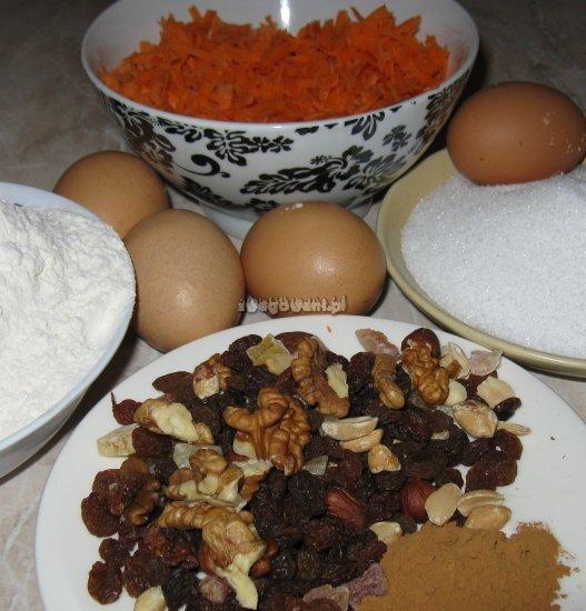 Ciasto marchewkowe - składniki