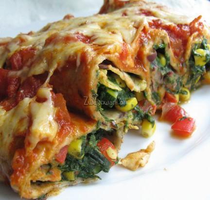 Enchilada wegetariańska z warzywami