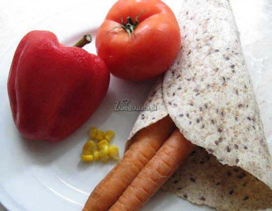 Enchilada wegetariańska z warzywami - składniki