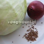 Gołąbki wegetariańskie z kaszą gryczaną i twarogiem - składniki