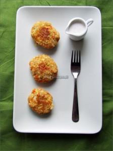 Kotleciki z ciecierzycy z warzywami korzeniowymi