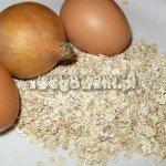 Kotlety z płatków owsianych - składniki