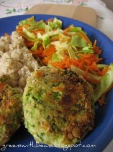 Kotlety z tofu i brokułów