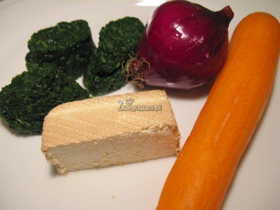 Kotlety z tofu i marchewki - składniki