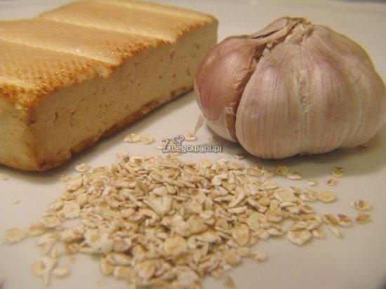Kotlety ziołowe z tofu i płatkami owsianymi - składniki