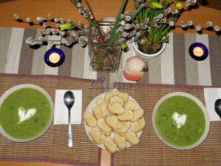 Krem z brokułów - gotowa zupa