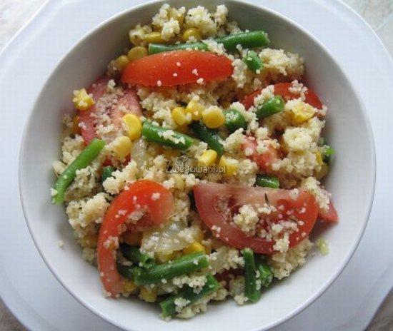 Kasza kuskus z warzywami