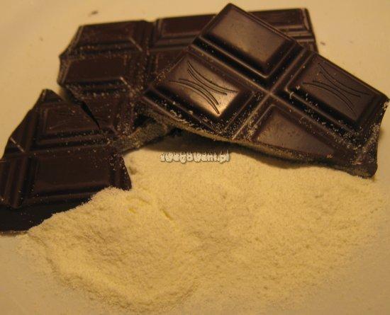Mus czekoladowy z bitą śmietaną - składniki