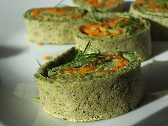 Zawijane naleśniki z warzywami