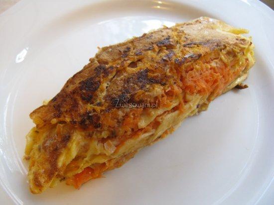 Gotowy omlet marchwiowy