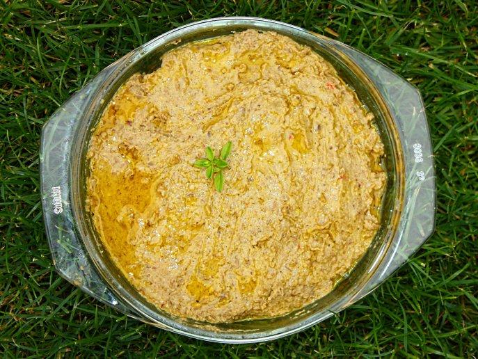 Pasta à la humus z soczewicy