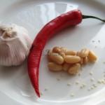 Pasta z białej fasoli - składniki