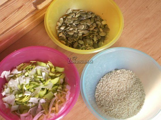 Pasztet z pestek dyni - składniki