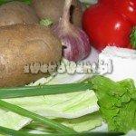 Pieczone ziemniaki z farszem serowym - składniki