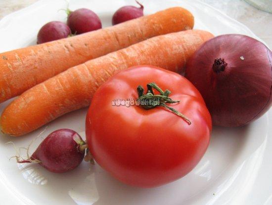 Purée z marchwi i rzodkiewki - składniki