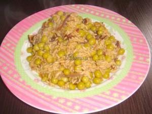 Risotto groszkowo-grzybowe
