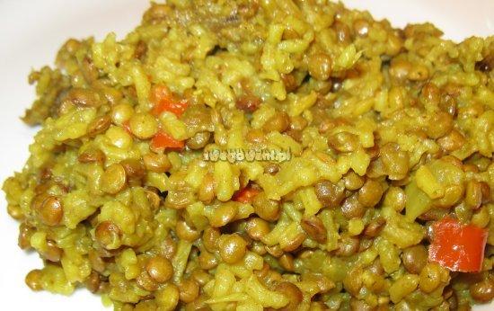 Ryż z zieloną soczewicą - khitcherie (kitchouri)
