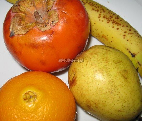 Sałatka bananowa z kaki - składniki