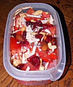 Sałatka pomidorowa do pracy