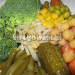 Sałatka warzywna - składniki