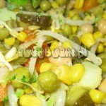 Sałatka warzywna z kiełkami soi