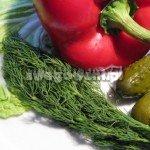 Sałatka warzywna z ogórkiem, papryką i oliwkami - składniki