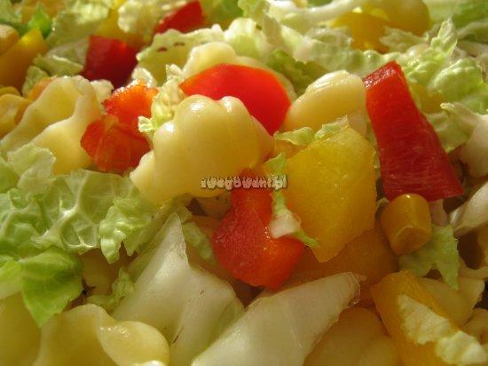 Sałatka z makaronem i papryką