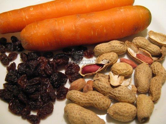 Sałatka z marchewką, papryką i orzechami - składniki