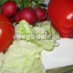 Sałatka grecka z serem feta i pomidorami - składniki
