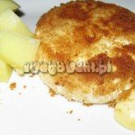 Smażony camambert z ziemniakami