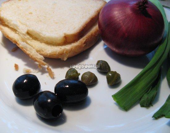 Tosty serowe z kaparami - składniki