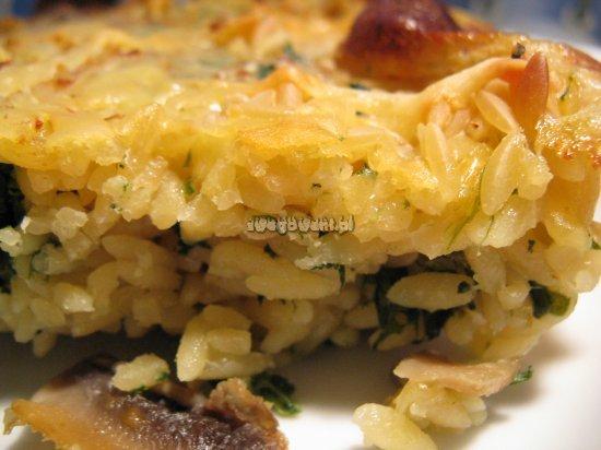 Gotowa zapiekanka z makaronem ryżowym