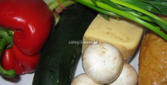 Zapiekanki z pieczarkami - składniki