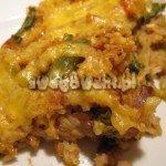 Zapiekanka z ryżem i fasolą