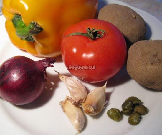 Ziemniaki z grilla z sosem barbecue - składniki