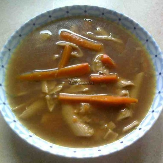 Zupa marchewkowa z makaronem
