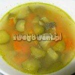 Zupa ogórkowa z włoszczyzną