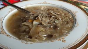 Zupa wigilijna z kapustą i grzybami