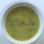 Zupa z soczewicy, pora i kukurydzy