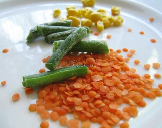 Zupa z soczewicy, pora i kukurydzy - składniki