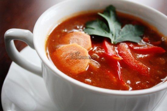 Zupa z soczewicy z papryką i marchewką