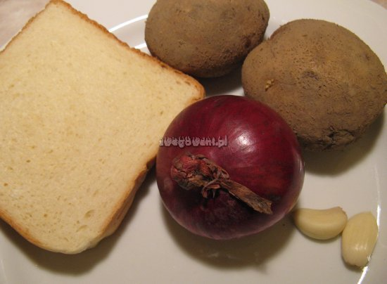 Zupa ziemniaczana z grzankami - składniki